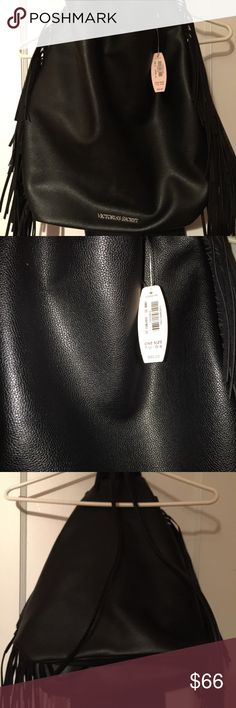 Trade for @oshuncrissy only NWT Victoria Secret backpack style bag with fringe Victoria Secret  Bags Backpacks