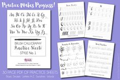 Brush Calligraphy Practice Sheets Style No. Alphabet Practice Sheets, Penmanship Practice, Calligraphy Practice, Improve Your Handwriting, Nice Handwriting, Brush Pen Calligraphy, Brush Lettering, Modern Calligraphy, Calligraphy Writing