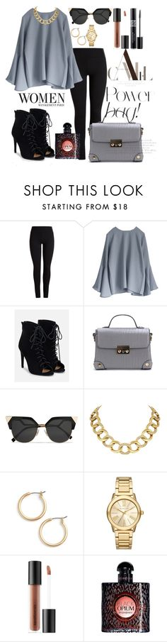"""Opium Women"" by saraprifti on Polyvore featuring JustFab, Fendi, House of Harlow 1960, Nordstrom, Michael Kors, Bare Escentuals, Christian Dior and Yves Saint Laurent"