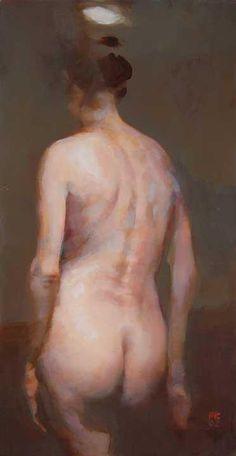 "Alex Kanevsky ""R.L.""  12"" x 6"", oil on wood"