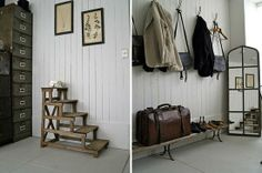 Great Neutrals and rustic character for mens retail