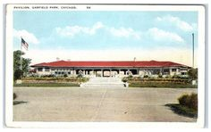 Early 1900s Pavilion, Garfield Park, Chicago, IL Postcard