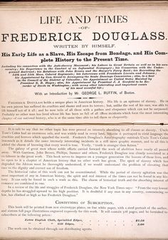 a biography of frederick douglass an emancipated slave Narrative of the life of frederick douglass an american slave written by frederick douglass published at the anti-slavery office, no 25 cornhill, boston (1845.
