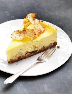 Baked Bramley apple cheesecake | This mouthwatering cheesecake is from chef and food writer Maria Elia. The added ginger really lifts the cake and gives it an unforgettable twist.