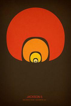 Music Minimalist Poster - Jackson Five