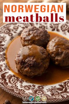 While pretty much everyone has heard of Swedish meatballs, I am here to cast a vote for their neighbor, Norwegian meatballs, Kjøttkaker. Norwegian meatballs are a bit larger and flatter than their Swedish cousins, but both use spices from the Silk Road, a relic of the ages when Vikings brought exotic spices back with them from their voyages. My rendition of this recipe uses ground venison, but you can use really whatever ground meat you have handy. Beef is traditional. | @huntgathercook Norwegian Meatball Recipe, Swedish Meatball Recipes, Venison Recipes, Meat Recipes, Game Recipes, Dinner Recipes, Ground Venison, Ground Meat, Brown Gravy Recipe