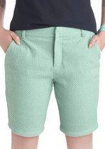 Cruise Ship Clues mint Bermuda shorts from ModCloth Modest Shorts, Modest Dresses, Modest Outfits, Short Outfits, Pastel Shorts, Mint Shorts, Summer Shorts, Mint Pants, Strand Resort