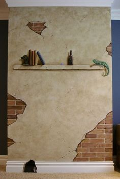 Faux Painting, Mural Painting, Tole Painting, Mural Art, Wall Murals, Faux Brick Walls, Cement Walls, Foam Carving, Break Wall