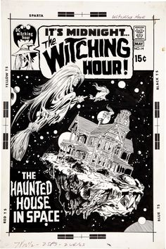 Original cover art by Neal Adams from The Witching Hour #14, published by DC Comics, April 1971.