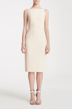 Sydney is a classy gal - the perfect sheath in our heavy-weight crepe. Champagne Bridesmaid Dresses, Bridesmaids, Boat Neck, Sydney, Wedding Planning, Dresses For Work, Classy, Shopping, Collection