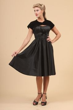 The Black Evelyn Dress By Pinup Couture