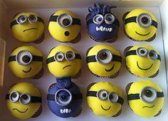 Despicable Me 2 Minion cupcakes :)
