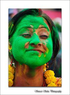 Photo taken in Holi festival ...