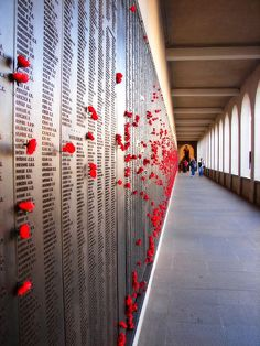 The Wall of Rembrance at Australian War Memorial, Canberra, Australia by aussiegall on Flickr