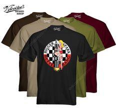 Velocitee Mens T-Shirt Bigger Spark Hot Rat Rod Sexy Pin Up Rockabilly W7569 #VelociteeSpeedShop