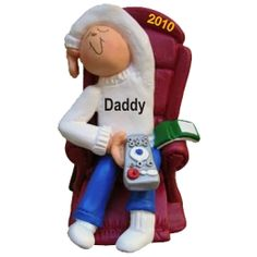 Dad's Day Off - Personalized Family Christmas Ornament