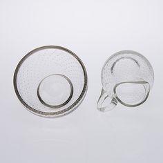 GUNNEL NYMAN, kermakko ja sokerikko, lasia, Nuutajärvi 1900-luvun puoliväli. - Bukowskis Lassi, Bukowski, Glass Design, Silver Rings, Personalized Items, Beautiful, Jewelry, Jewlery, Bijoux