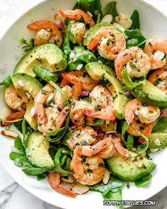 """4,145 Likes, 20 Comments - Fitness Recipes (@fitness_recipes) on Instagram: """"Also check @detox_recipes . CITRUS SHRIMP & AVOCADO SALAD By: @foodiecrush . This simple but…"""""""