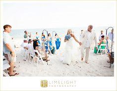 Limelight Photography, www.stepintothelimelight.com, Florida Keys, Weddings, Beach, Ceremony, Aisle, Bride, Groom, Wedding Dress, Bouquet, Blue, Tropical
