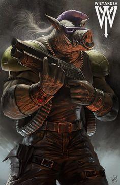 Bebop - Teenage Mutant Ninja Turtles - 11 x 17 impresión Digital Ninja Turtles Art, Teenage Mutant Ninja Turtles, Gi Joe, Comic Books Art, Comic Art, Bebop And Rocksteady, Mundo Comic, Image Manga, The Villain