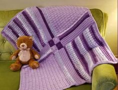 Crochet Tutorial: Patchwork Medley Baby Blanket - YARNutopia by Nadia Fuad Afghan Patterns, Crochet Blanket Patterns, Baby Blanket Crochet, Crochet Stitches, Crochet Baby, Free Crochet, Crochet Afghans, Irish Crochet, Crochet Angels