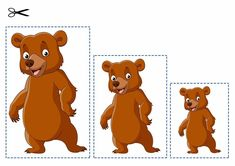 Edukativni materijal na bazi Montessori pedagogije Preschool Learning Activities, Toddler Preschool, Toddler Activities, Preschool Activities, Kids Learning, Fairy Tale Crafts, Sequencing Pictures, Teddy Bear Day, Goldilocks And The Three Bears