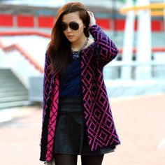 Buy 'SO Central – Geometric Pattern Furry Open Front Cardigan' with Free International Shipping at YesStyle.com. Browse and shop for thousands of Asian fashion items from Hong Kong and more!
