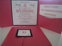 Square Pocketfold Wedding Invitation with 3 by JonesStDesigns, $100.00