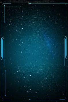 technological sense line art blue gradient poster