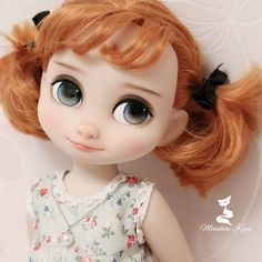 Disney Baby Dolls, Baby Disney, Pretty Dolls, Beautiful Dolls, Ooak Dolls, Blythe Dolls, Tangled Painting, Disney Animators Collection Dolls, Disney Animator Doll