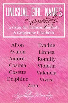 What would you name a sister for Tamson Bennett and Gracienne Elizabeth? If you love unusual #girlnames, their list might be your list! #namehelp Writing Practice, Writing A Book, Writing Tips, Writing Prompts, List Of Girls Names, Women Names, Baby Girl Names, German Names, Writing