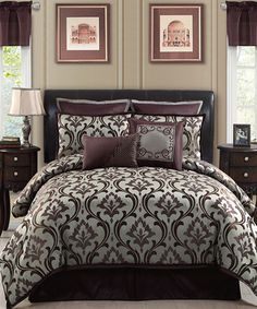 Take a look at this Plum Winchester Queen Comforter Set by Victoria Classics on #zulily today!