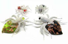 "Bead artwork by Julia Turova | Bead art by Julia Turova. Spider ""Hen Party"""