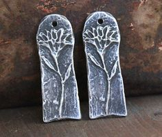 Flower Charms Handcast Pewter Jewelry Elements No. by Inviciti - handcrafted - artisan - metal - jewelry - handmade - etsy - jewelry making supplies
