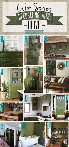 cool Color Series; Decorating with Olive | A Shade Of Teal by http://www.best99-homedecorpics.us/home-decor-colors/color-series-decorating-with-olive-a-shade-of-teal/