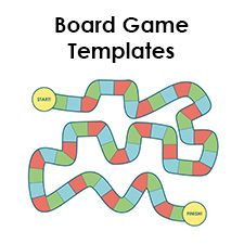 Blank Board Game Template Printables | Make Your Own Board Game