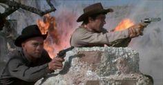 Raging gun battle. Robert Fuller, The Magnificent Seven, Rage, Gun, Battle, Painting, Painting Art, Firearms, Paintings