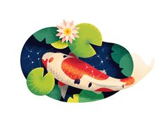 This is a selection of Dribbble shots posted through summer Illustrations reflect process of exploring textures and colors, using larger shapes to make a dynamic compositions, perfecting water drawing skills.This summer wouldn't be so productive w… Art And Illustration, Character Illustration, Graphic Design Illustration, Illustrations, Fish Vector, Vector Art, Logos Tattoo, Summer Shots, Water Drawing