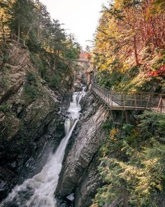 This Wooden Staircase Near Ontario Will Take You Past A Rushing Waterfall - Narcity An unreal adventure! High Falls Gorge, Ontario Travel, Autumn In New York, Wooden Staircases, Les Cascades, Camping And Hiking, Hiking Trails, Beautiful Waterfalls, Secret Places