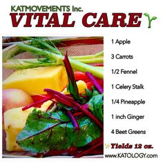 VITAL CARE JUICE  ☝This juice combination is filled with optimal nutrition and complete vitamin care for a healthy immune system. ✅Beet greens are an excellent source of vitamin K. ✅Fennel contains high amounts of vitamin A and vitamin C. ✅Carrots are a sweet source of vitamin B. ✅Apples are an abundant source of vitamins A, B, & C. ✨Eating whole foods is the best way to an exceptional quality of life! Every ingredient is packed with medicine. https://www.facebook.com/JUICING101/