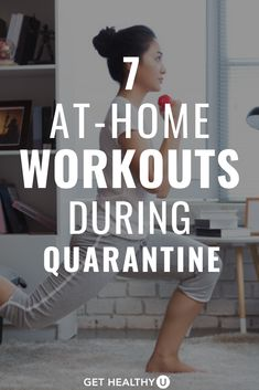 The Best At-Home Workouts To Do During Quarantine - Get Healthy U - Stuck at home? Self-quarantining? These 7 at-home strength workouts will help ke - Mini Workouts, Killer Workouts, Cheer Workouts, Morning Workouts, Quick Workouts, Butt Workouts, Fitness Workout For Women, Health And Fitness Tips, Best At Home Workout