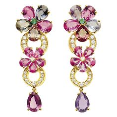 Bvlgari Save by Antonella B. Saphir Rose, Jewelry Accessories, Jewelry Design, Italian Jewelry, Floral Fashion, Diamond Jewelry, Bulgari Jewelry, Fashion Earrings, Jewelry Collection