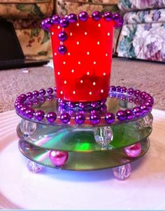 Me and my thoughts : Cd Candle Holder- Reuse old CDs...