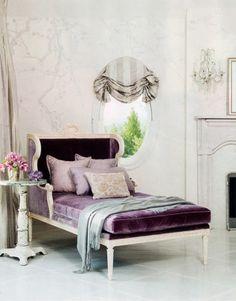 purple plush chaise