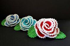 Crochet brooch  Rose brooch  Crochet rose brooch  Crochet flower  Crochet rose pin  Rose flower brooch  Big corsace pin  Pin crochet flower by shopausrele on Etsy