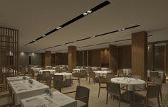 CJC Interior Design   Hotel Crowne Plaza   Wood   Dining Area  Elegant   Algarve