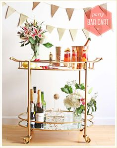 Essential bar cart ideas and tips help you create the perfect bar cart.