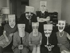 """""""Mask Portrait"""" from Series with Saul Steinberg, 1959 Inge Morath, Saul Steinberg, Berenice Abbott, Gordon Parks, Paper Mask, History Of Photography, Contemporary Photography, Contemporary Art, Art Plastique"""