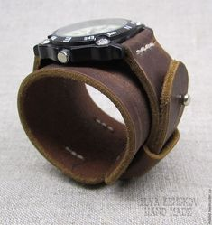 Купить Кожаный ремешок для часов - коричневый, ремешок для часов, ремешок из кожи, натуральная кожа