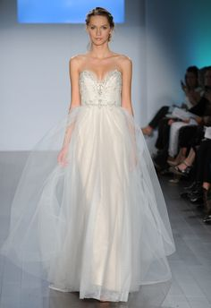 Strapless A-Line Wedding Dress | Alvina Valenta Wedding Dresses Spring 2015 | Kurt Wilberding | blog.theknot.com